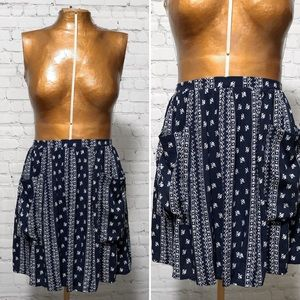 Paper Crane Bandana Print Mini Skirt NWT